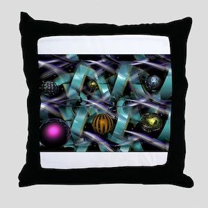 Groovy Artsy 3D Throw Pillow