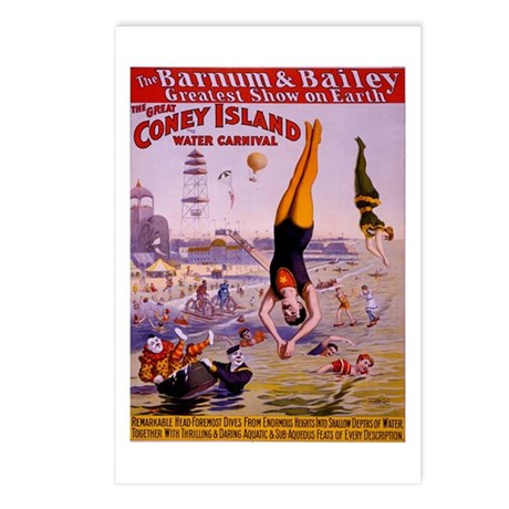 Barnum & Bailey (E) Postcards (Package of 8)