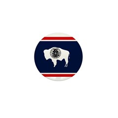 Wyoming State Flag on Mini Button