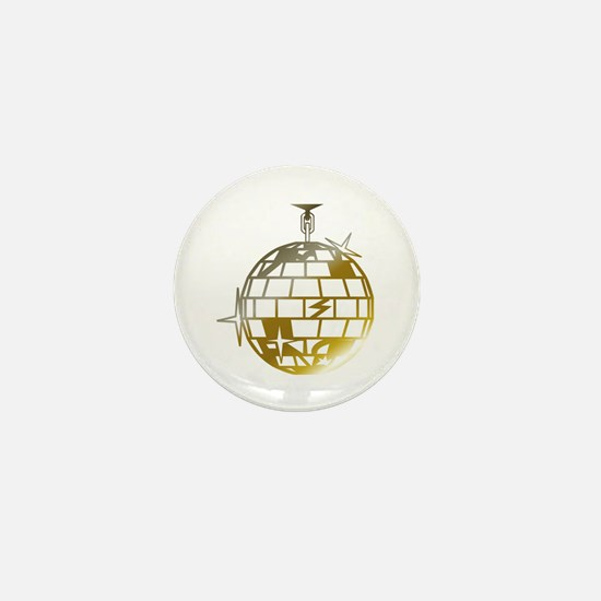 Gold Disco Ball Mini Button