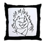 Evil Laugh Throw Pillow