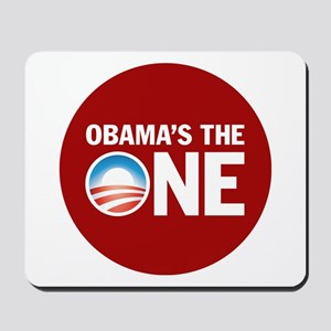 Obama's the ONE Red Mousepad