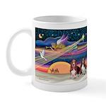 Xmas Star & 2 Bassets Mug