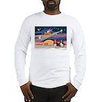 Xmas Star & 2 Bassets Long Sleeve T-Shirt