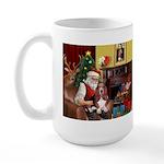 Santa's Basset Hound Large Mug