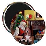 Santa's Basset Hound Magnet
