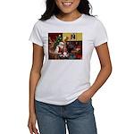Santa's Basset Hound Women's T-Shirt