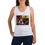Santa's Basset Hound Women's Tank Top