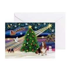 Xmas Magic - Basset Greeting Cards (Pk of 10)