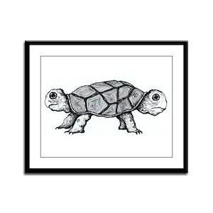 TURTLE 001 Framed Panel Print