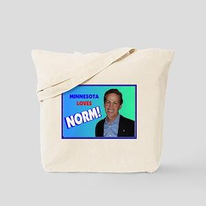 Minnesota loves Norm Coleman Tote Bag