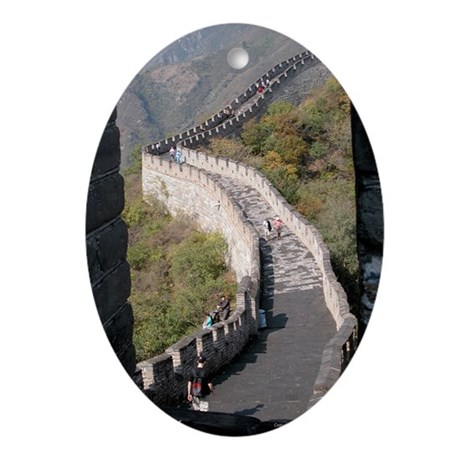 Climbed Great Wall Photo - Oval Ornament