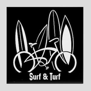 Surfboards & Bike Tile Coaster