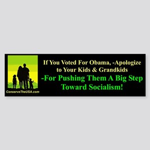 """""""Apologize To Your Kids"""" Sticker (Bumper"""