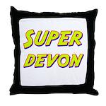 Super devon Throw Pillow