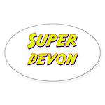 Super devon Oval Sticker
