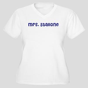 Mrs. Stallone Women's Plus Size V-Neck T-Shirt