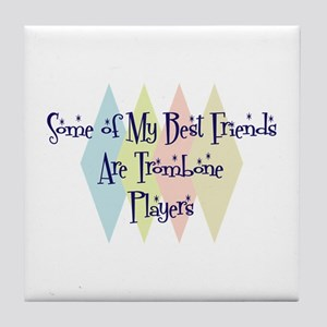 Trombone Players Friends Tile Coaster