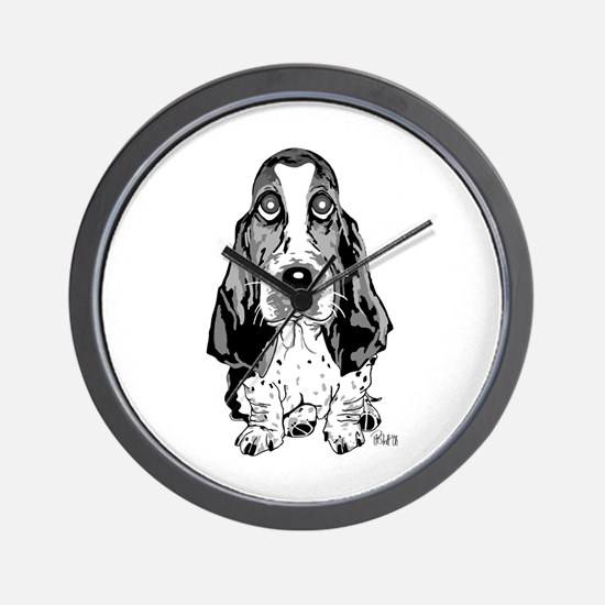 Unique Basset hound Wall Clock