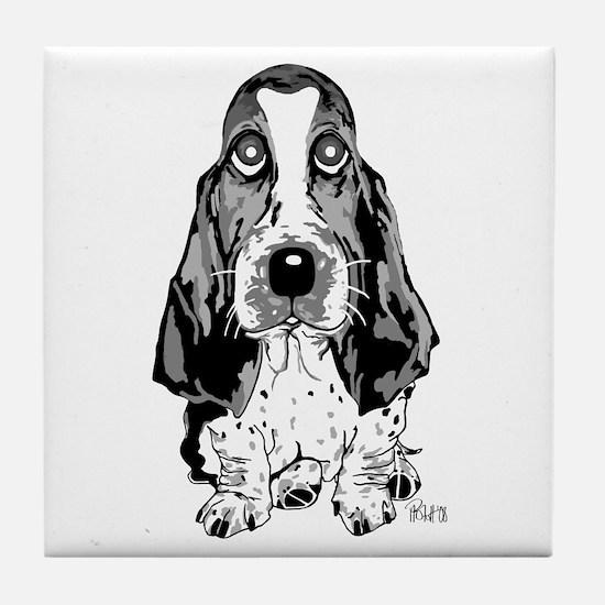 Cute Basset hound Tile Coaster