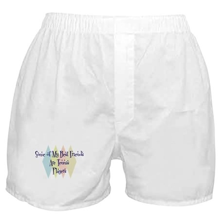 Tennis Players Friends Boxer Shorts