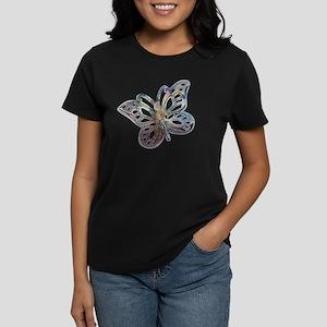 Rose Butterfly Women's Dark T-Shirt