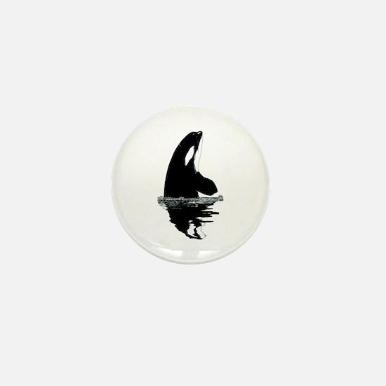 Orca Killer Whale Mini Button