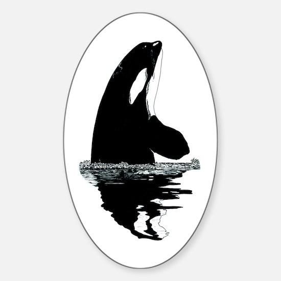 Orca Killer Whale Sticker (Oval)
