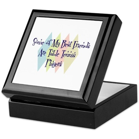 Table Tennis Players Friends Keepsake Box