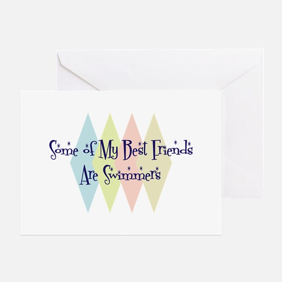 Swimmers Friends Greeting Card