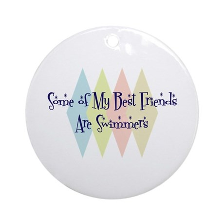 Swimmers Friends Ornament (Round)