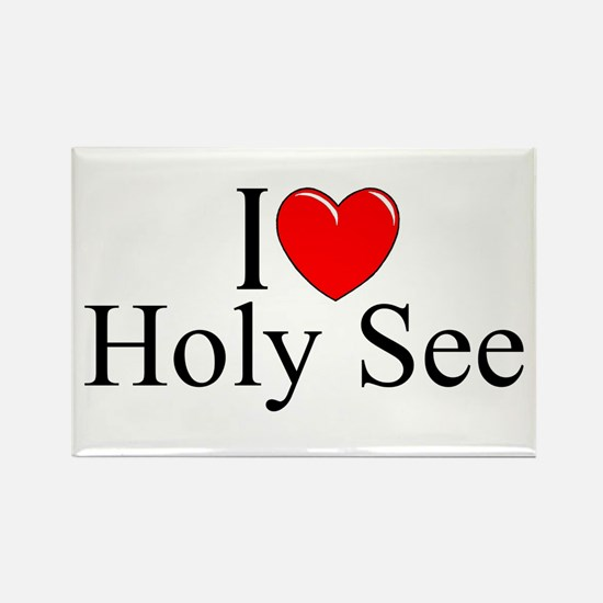 """I Love (Heart) Holy See"" Rectangle Magnet"