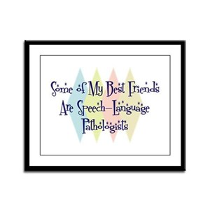 Speech-Language Pathologists Friends Framed Panel