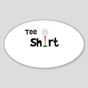 Golf Tee Shirt Funny Golfer Sticker