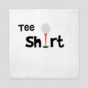 Golf Tee Shirt Funny Golfer Queen Duvet
