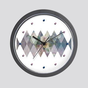 Roses in Argyle Wall Clock