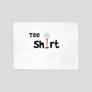 Golf Tee Shirt Funny Golfer 5'x7'Area Rug