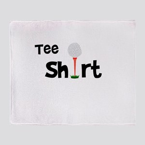 Golf Tee Shirt Funny Golfer Throw Blanket