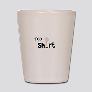 Golf Tee Shirt Funny Golfer Shot Glass