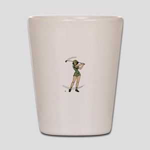 Golf Just a Girl Who Loves Golf Shot Glass