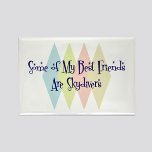 Skydivers Friends Rectangle Magnet