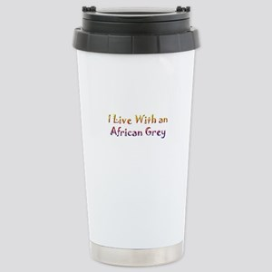 African Greys Stainless Steel Travel Mug