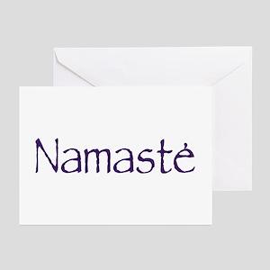 Namaste in Sacred Purple Greeting Cards (Pk of 10)