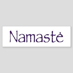 Namaste in Sacred Purple Bumper Sticker