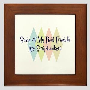 Scrapbookers Friends Framed Tile