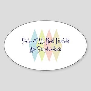 Scrapbookers Friends Oval Sticker