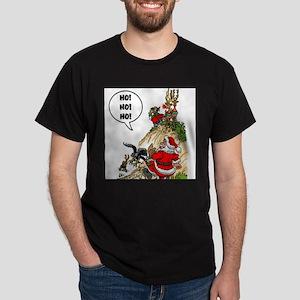Santa's Gone Hawking Dark T-Shirt