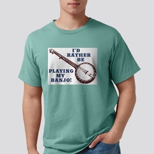 I'd Rather Be Playing My Banjo Ash Grey T-Shirt