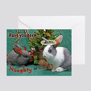Naughty or Nice Bunny Holiday Cards (Pk of 20)