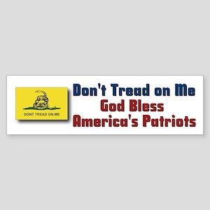 Gadsden God Bless - McCain-Pa Bumper Sticker